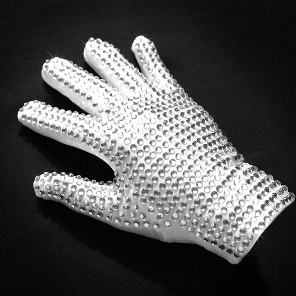 Thriller9 Michael Jackson Glove Rare MJ Classic Rhinestone Billie Jean Glove Hot Fix Diamond Mittens Handmade Adults Glove