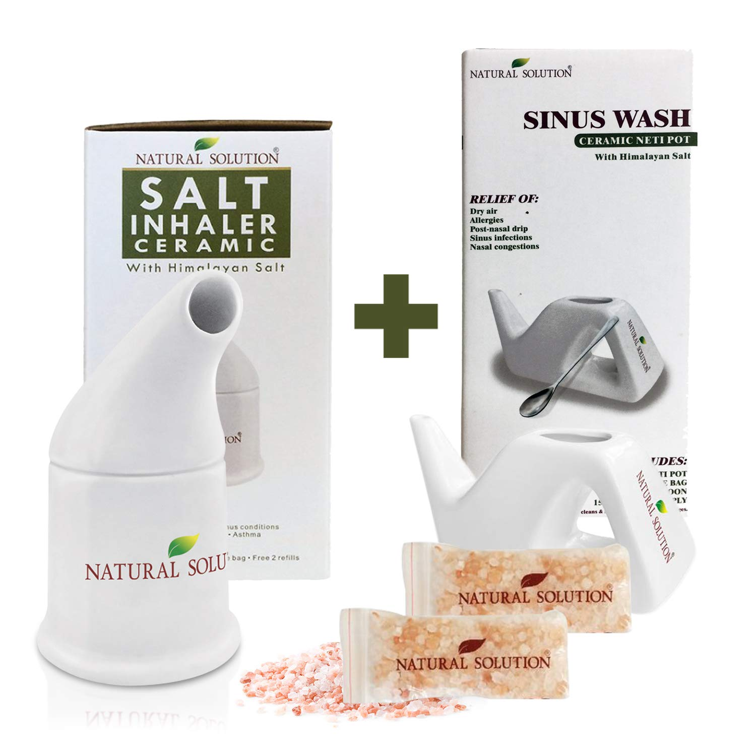 Natural Solutions Himalayan Pink Salt Inhaler,Therapy Inhaler for Asthma and Allergies by WBM