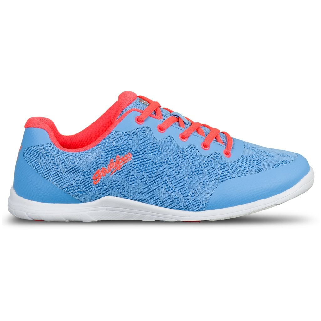 KR Strikeforce Women's Lace Bowling Shoes, Sky/Coral, Size 7