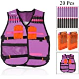 51e14310a77 Kids Elite Tactical Vest Kit for Nerf N-Strike Elite Series + 20 Pcs Soft
