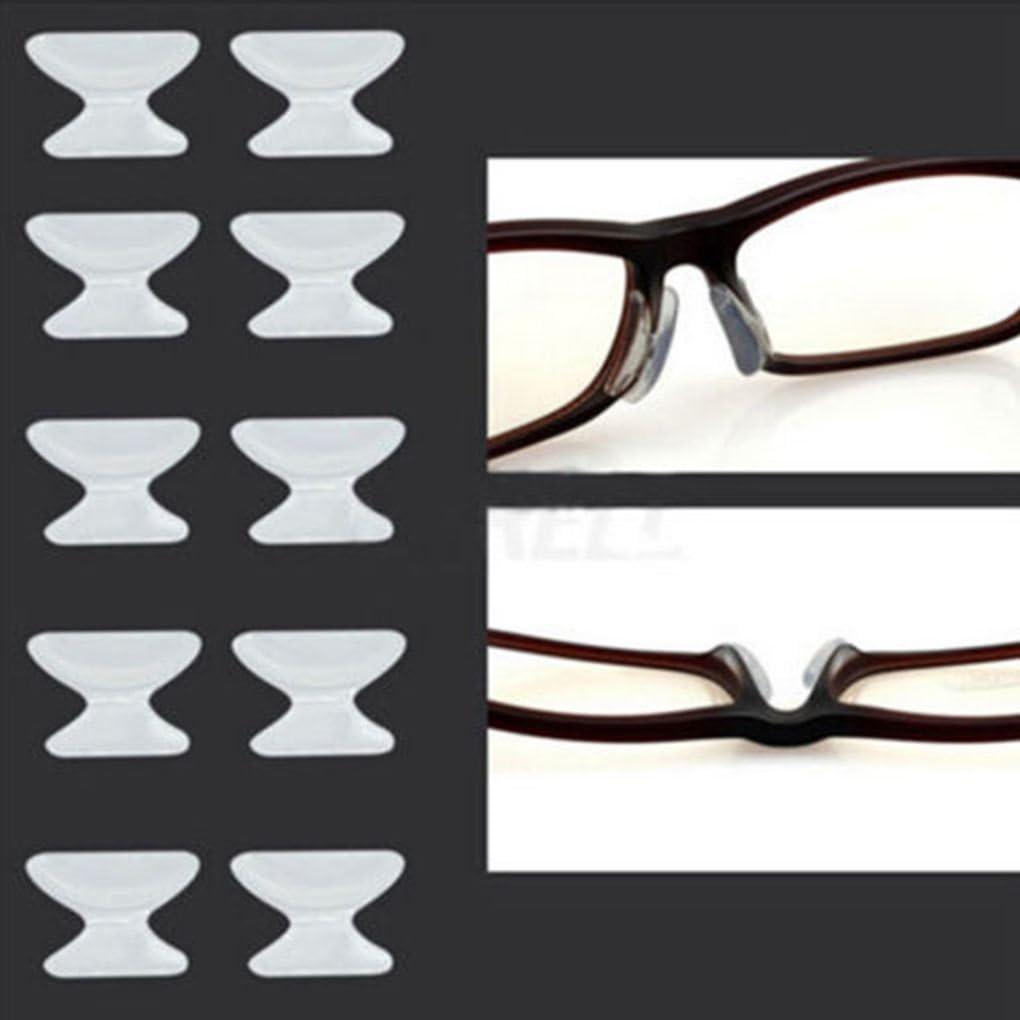 Demino 5 Par de Gafas Sunglass Gafas Gafas Gafas de Silicona Stick, de la Lente de Silicona Anti-Deslizante de Silicona Palo en Almohadilla para la Nariz