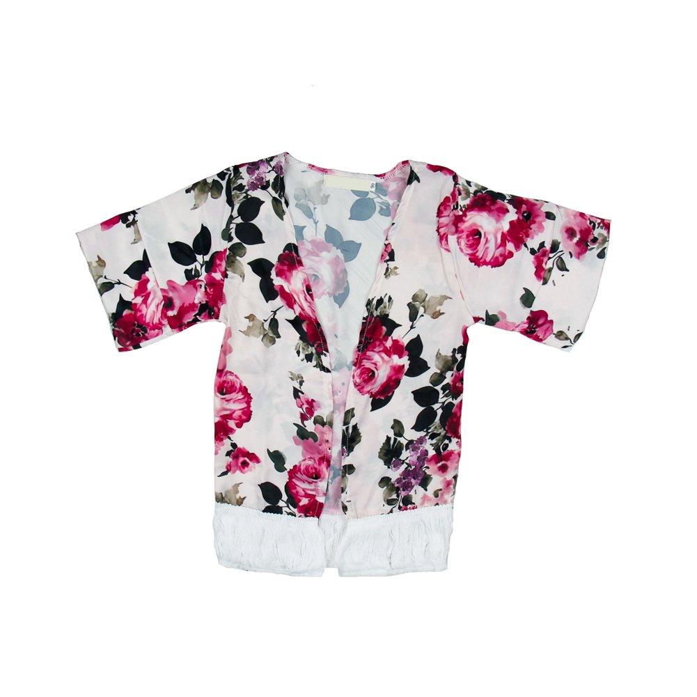 Summer Baby Tassel Chiffon Cardigan Outfits Toddler Kids Girl Kimonos Coats