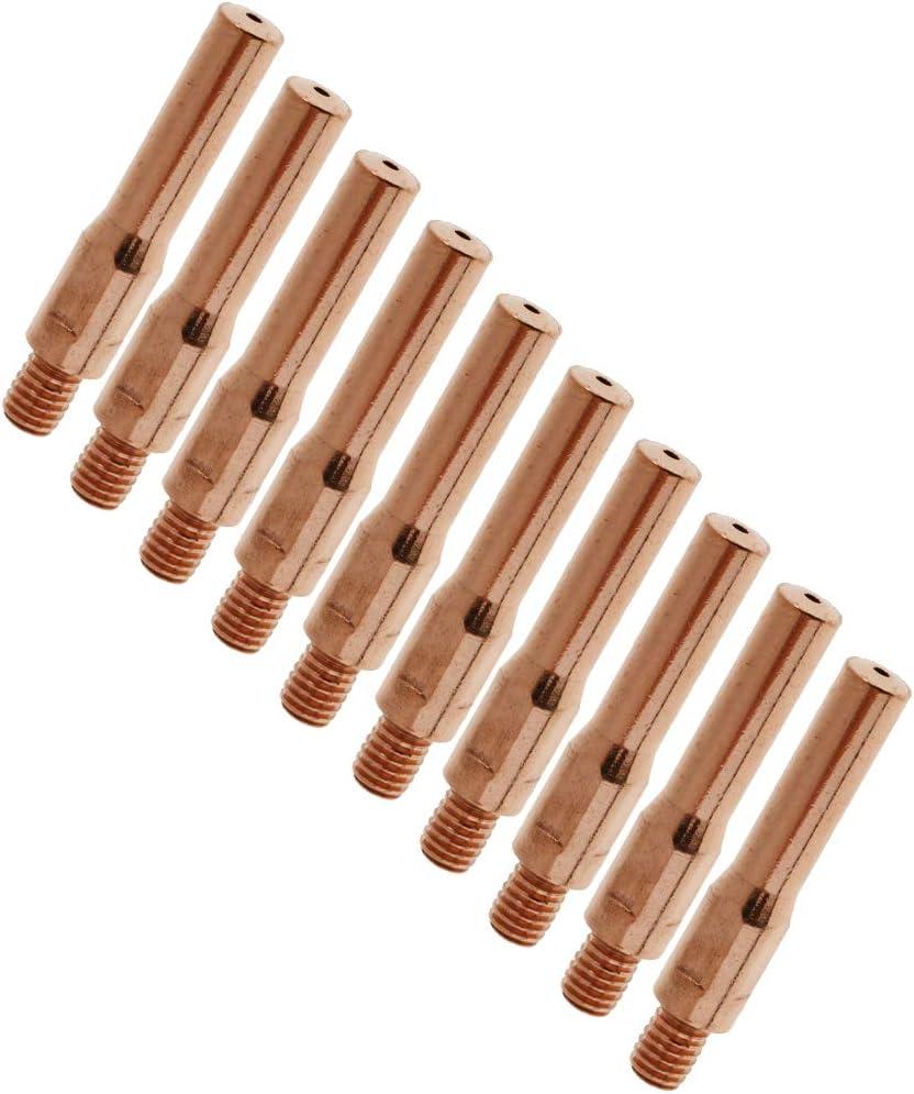 1.4mm as described yotijar 10 Pieces 45mm Contact Thread Nozzle Tip For MAG//MIG Gas Shielded Welder Fit
