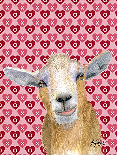 Caroline's Treasures RDR3026GF Hearts and Love Goat Flag, Small, Multicolor