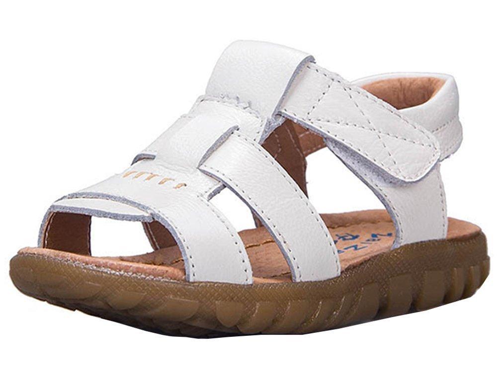BININBOX Summer Breathable Sandals Girl Boys Toddler Kid Casual Sport Shoe Soft (9 M US Toddler, White)