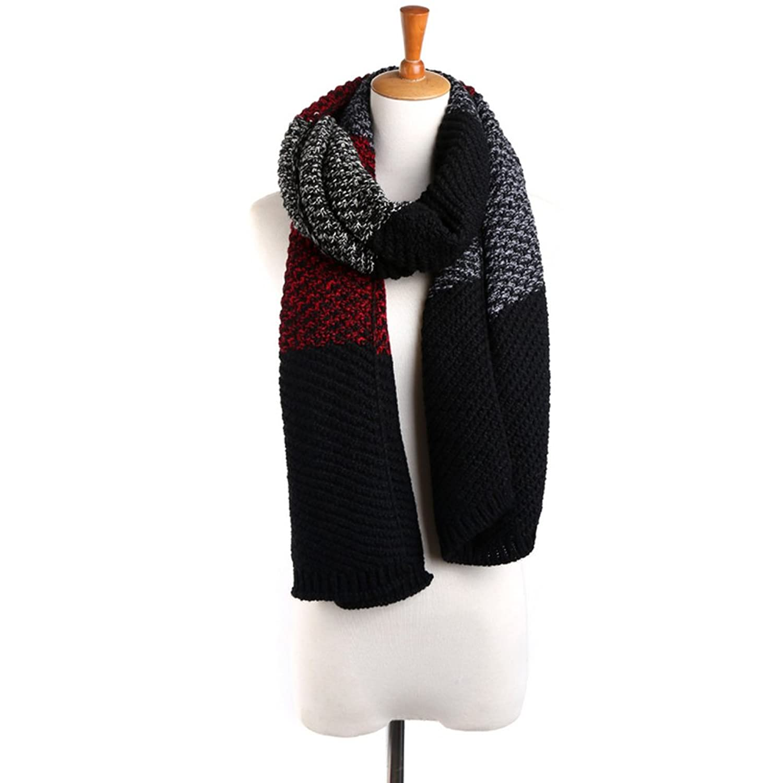 Funbase Lover Women Man Winter Multicolor Patterned Winter Shawl Knit Scarf Wrap