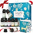 Essential Oil Set, 8 x 10 ml 100% Pure Natural Essential Oils Luckyfine, Exquisite Gift Box - High Quality Fragrance / Lavender / Lemongrass, Perfect for Mothers Day, Birthday - Helps Sleep, Relax And Rejuvenate SPA, Massage, Aromatherapy, Bathing