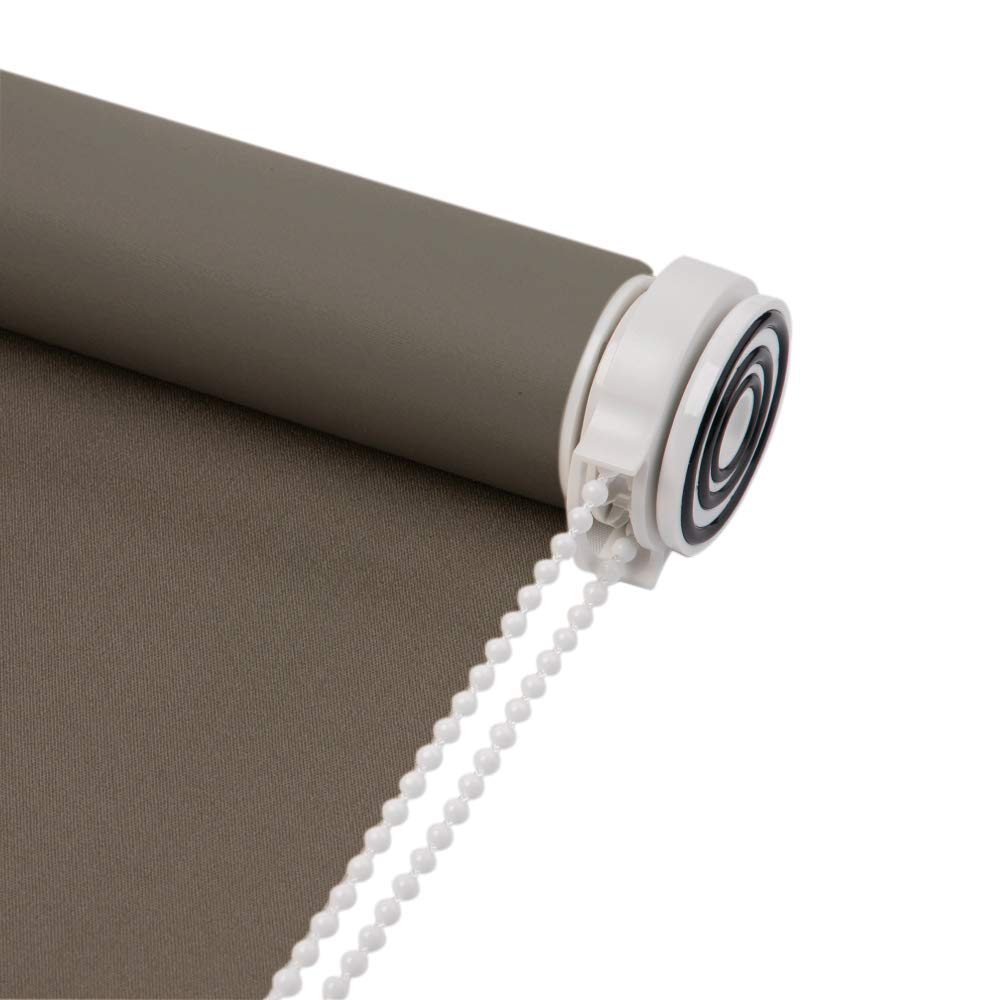 Room Darkening,Customized Size Skansen Water Proof Fabric Tension Roller Blinds No Need to Drill Kitchen Toilet Beige