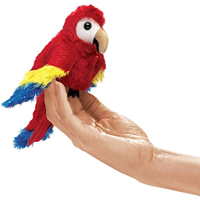 Folkmanis Mini Scarlet Macaw Finger Puppet: Toys & Games