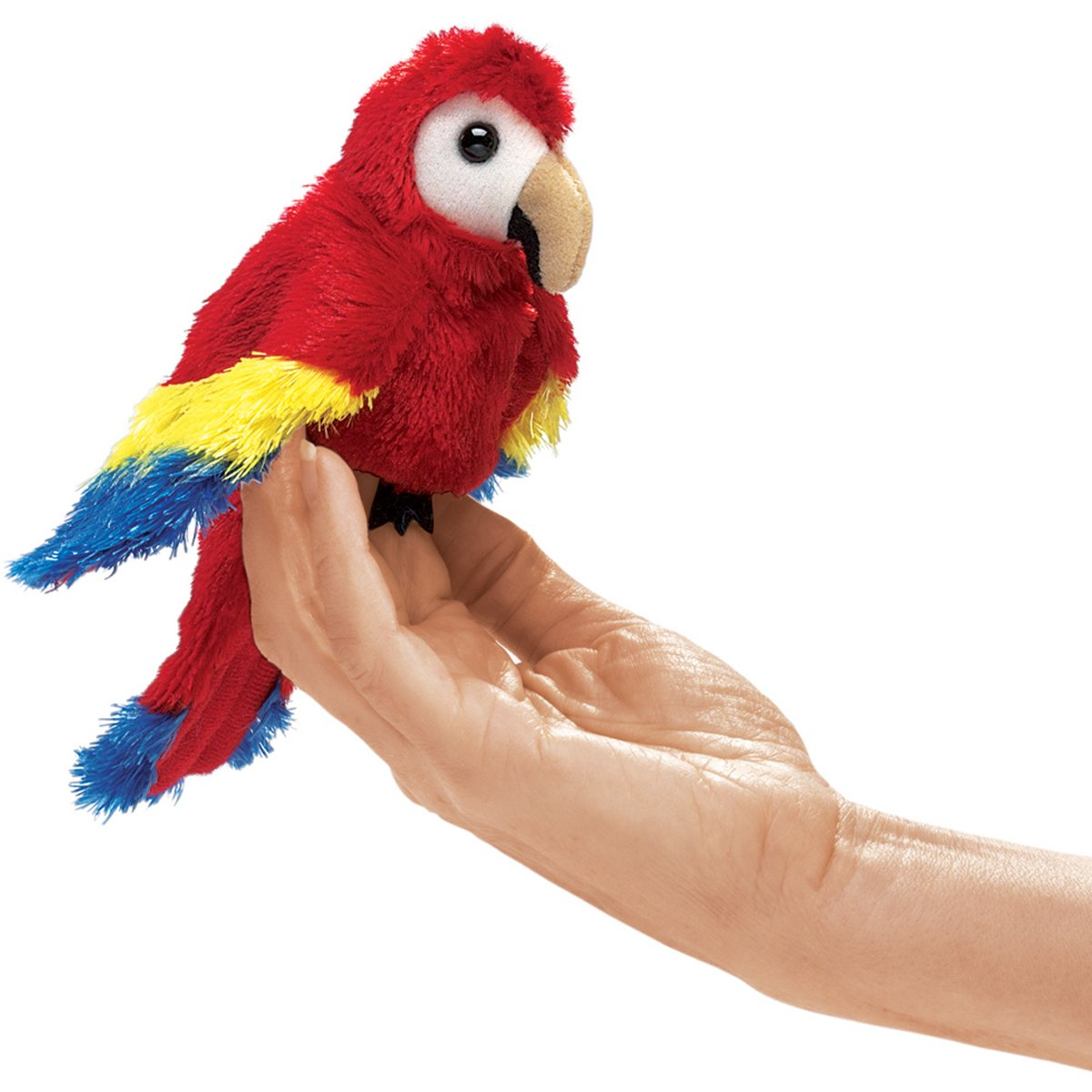 Folkmanis Mini Scarlet Macaw Finger Puppet Folkmanis Puppets 2723