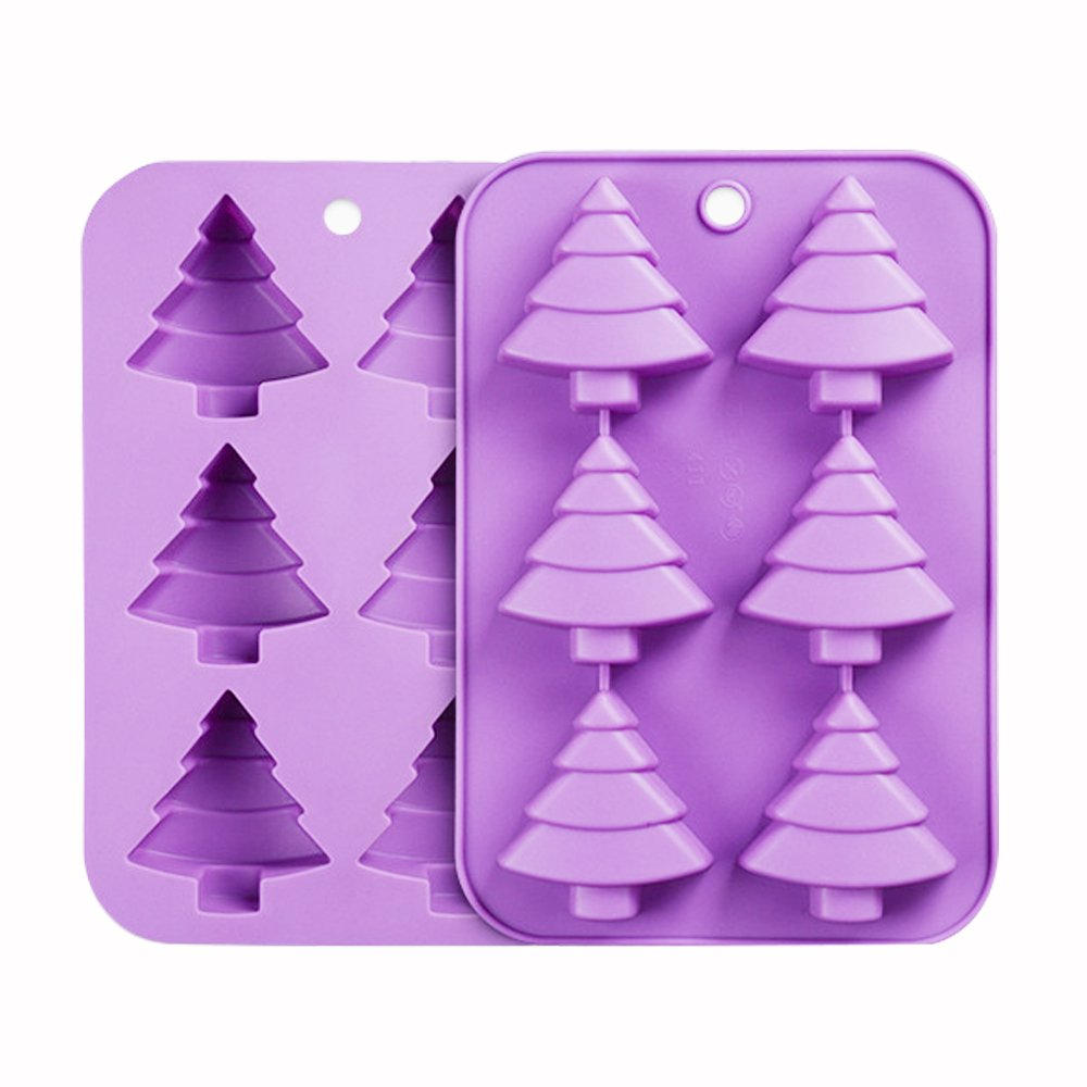 ESA Supplies 4 Cavities Rectangle Tree of Life Silicone Soap Bar and Resin Mold for DIY Soap Making