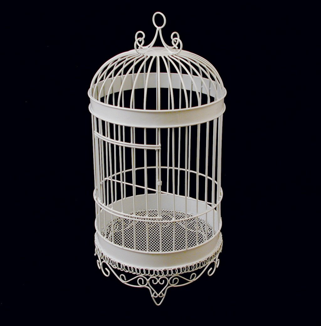 Firefly Imports Homeford White Metal Wedding Bird Cage, 20-1/2-Inch by Firefly Imports