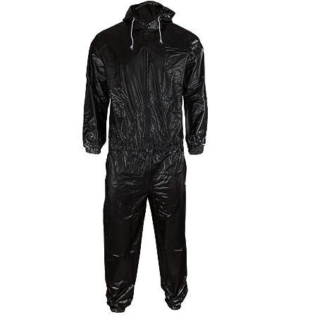 DerShogun Sauna Anzug aus schwarzem PVC Mit Kapuze