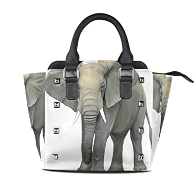 45118d1eca6e2 Amazon.com: Womens Animal Elephant Leather Handbags Purses Shoulder ...