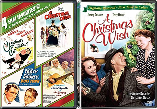 Wish Holiday Heart Connecticut Charles Dickens Carol Boys Nun 5 Movie DVD Pack / Boys Town / Hapiness is Debbie Reynolds Singing / Spencer Tracy Boys Town / Barbara Stanwyck /A Christmas Jimmy Durante
