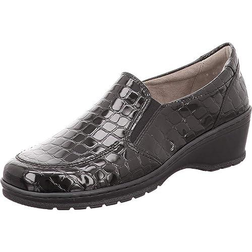 Jenny - Mocasines de Charol para Mujer Negro Schwarz Weite H, Color Negro, Talla 38.5 EU: Amazon.es: Zapatos y complementos