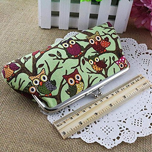 Noopvan Wallet Wallet Handbags Small Bags Vintage 2018 Style Hasp Fashion Lovely Owl Purse Pockets Coin Green Clearance Clutch Women BBxwqnC1rp