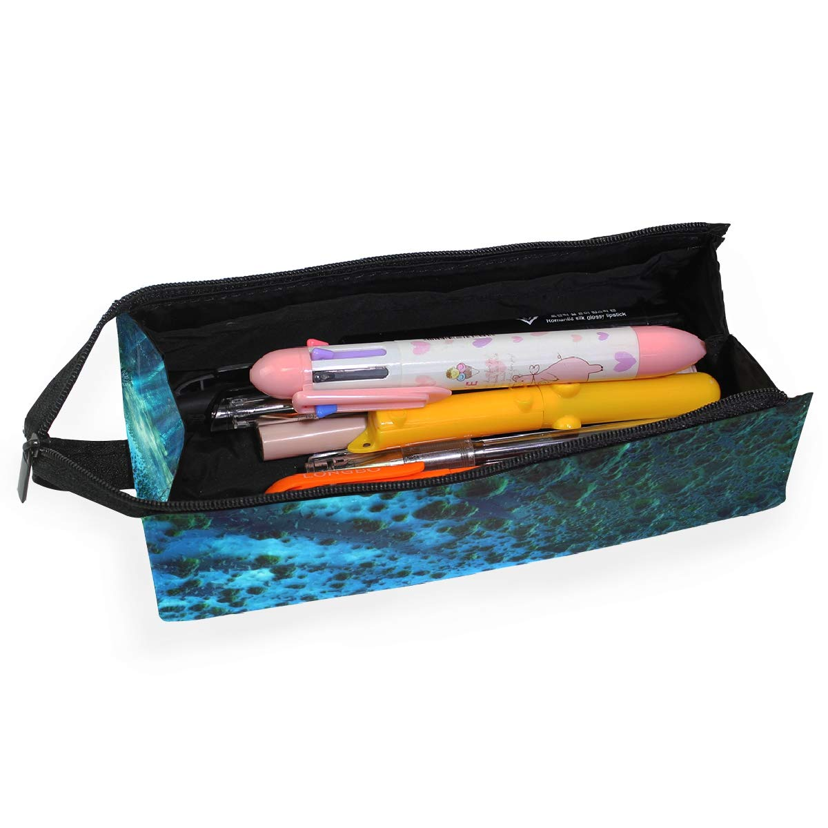 My Little Nest Eyeglass Sunglasses Holder Pouch Bag Colorful Rainbow Fish Multi Function Zipper Pen Case Pencil Bag Organizer