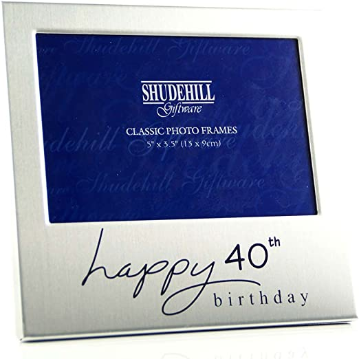 Happy 40th Birthday/' Photo Picture Frame