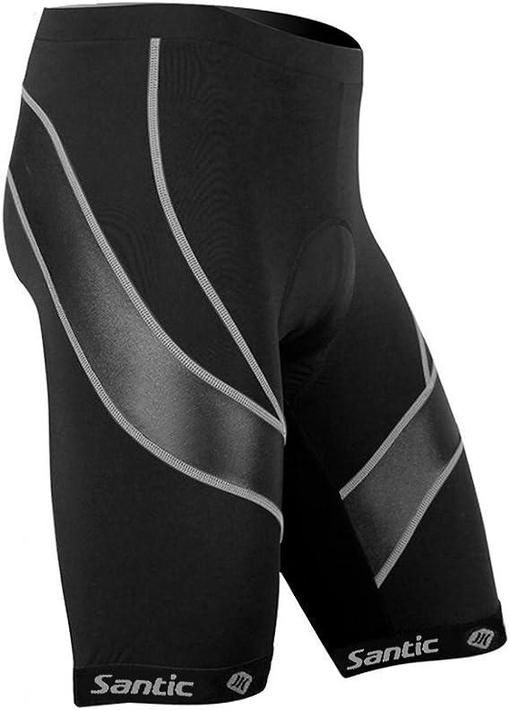 Santic Men's Cycling Shorts Biking Bicycle Bike Pants Half Pants 3D Coolmax Padded Bike Shorts Light Velocity