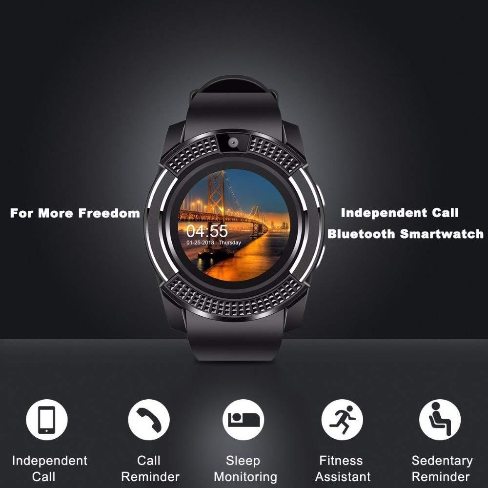 ZKLG Smart Watch V8 Hombres Bluetooth Deporte Relojes Mujeres Rel ...