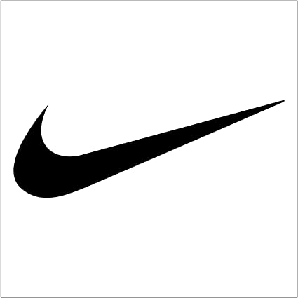 bab095d5e684 Image Unavailable. Image not available for. Color  Crawford Graphix Nike  Swoosh Logo Vinyl Sticker 2 Pack (6 quot  Black)