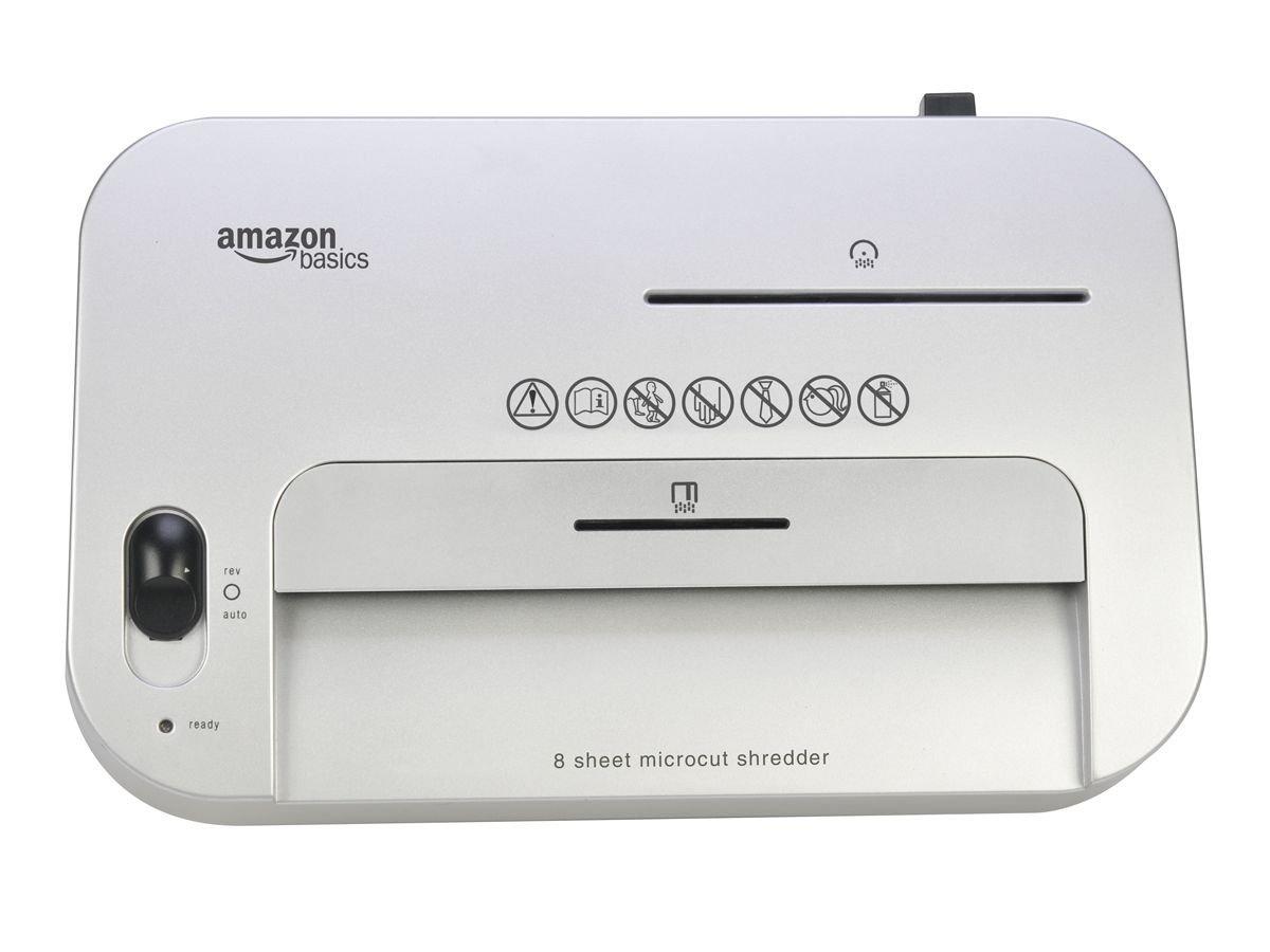 Amazon.com : AmazonBasics 8-Sheet High-Security Micro-Cut Paper, CD ...