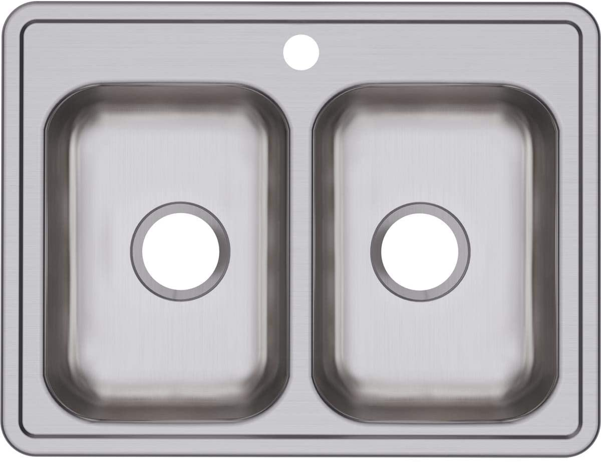 Dayton D225191 Equal Double Bowl Drop-in Stainless Steel Sink