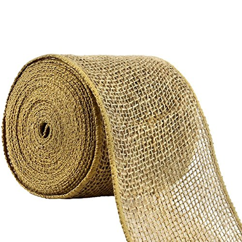 AAYU Brand Premium Jute Ribbon 1.5 inch | Burlap jute Ribbon role |1.5 inch x 10 yards | 7oz Burlap Mesh Ribbon, Food Grade | Eco-Friendly, Natural Burlap Ribbon Rolls (Decorations Hobbycraft Christmas Tree)
