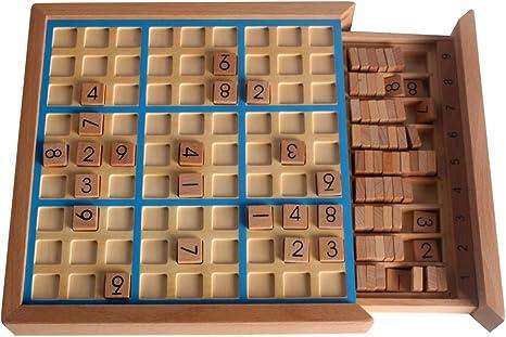 Larcele Madera Sudoku Juegos de Mesa SD-02: Amazon.es: Juguetes y ...