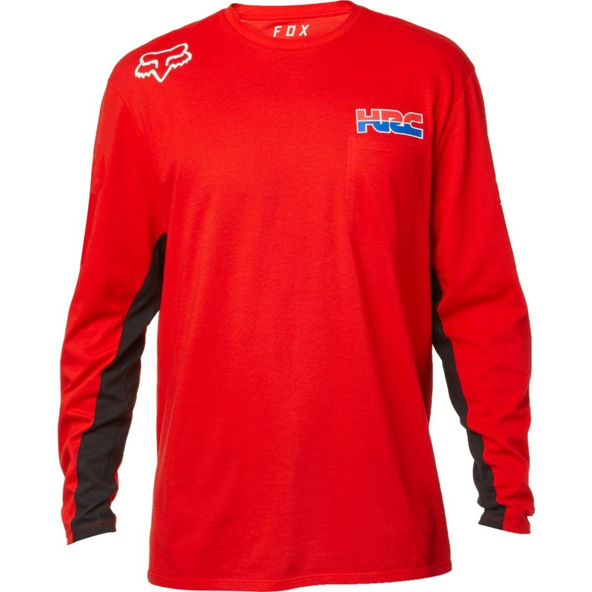 Amazoncom Fox Racing Redplate Hrc Honda Airline Mens Long Sleeve T