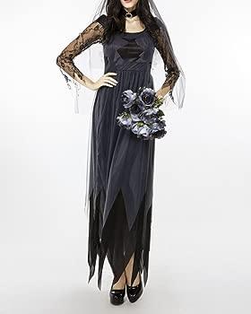Disfraz De Novia Fantasma Cadáver Mujer para Halloween Ropa ...