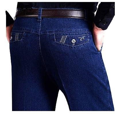 Andopa Suelta Otoño Invierno Denim pantalones elásticos ...