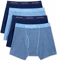 Alfani Mens Underwear, Boxer Brief 4 Pack