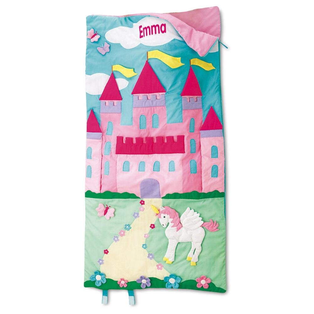 Lillian Vernon Castle Kids Personalized Sleeping Bag, 30 x 60 Child-Size, Indoor, Lightweight, Custom-Embroidered Name, Girl's Sleeping Bag by Lillian Vernon