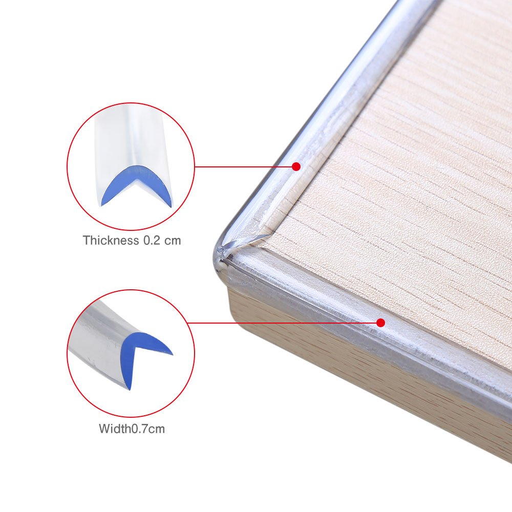 Safety Corner Protectors Guards Faway Table Corner Protectors for Child and Baby Safety and NO Smell Proofing Corner.