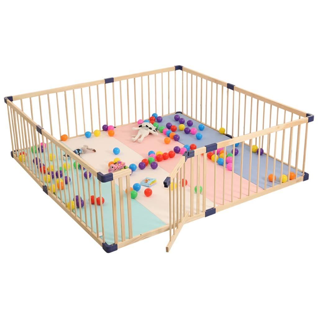 男女兼用 ベビーサークル Wood Baby Wood Playpen - 子供用大型安全プレイセンターヤードホーム屋内屋外フェンス (サイズ さいず : : (サイズ 150×200×61cm) 150×200×61cm B07MNVX79Y, クニガミグン:4e5c5142 --- a0267596.xsph.ru