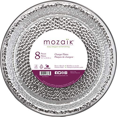 Mozaik Hammered Silver Premium Plastic 12