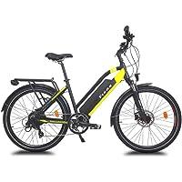 URBANBIKER Viena Bicicleta VTC eléctrica (Amarillo o Azul) batería Lithium Ion 804 WH…