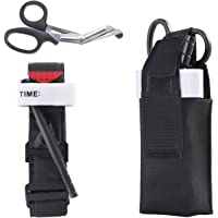 First Aid Kit for Car Vehicle Outdoor Tactical SWAT Trauma Kit Stop The Bleed, One Hand Self Application,Tourniquet…