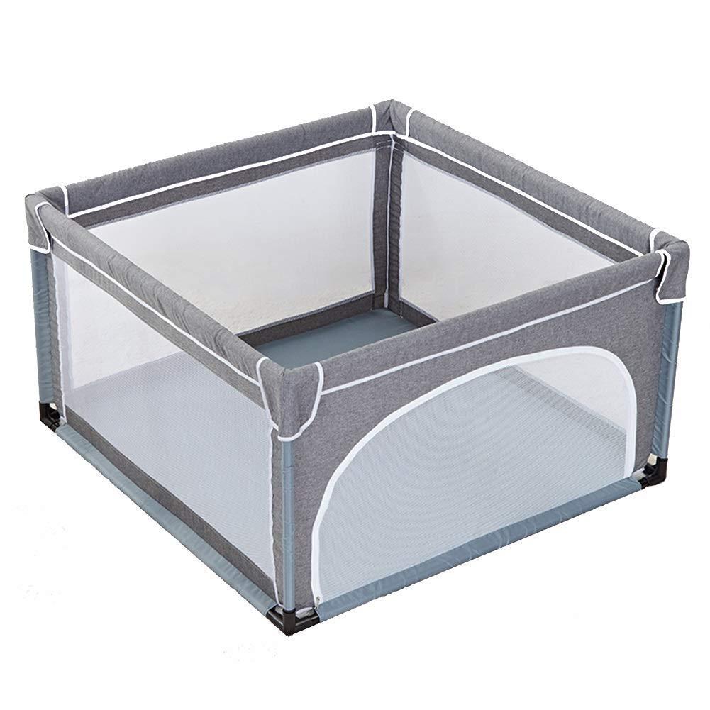 LYQZ Playpens mit Matte grau Sicherheit Spiel Zaun Sicherheit Krabbeln Matte Anti-Fallen Kinder Spielplatz tragbare Falten (größe   120  120  70cm)