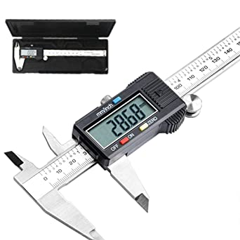 Pullox Digital Stainless Steel Caliper, Vernier Caliper, Caliper Measuring  Tool with Inch/Millimeter Conversion, Extra Large LCD Screen, 0-6  Inch/0-150 mm, Auto Off Featured Micrometer: Amazon.in: Industrial &  Scientific