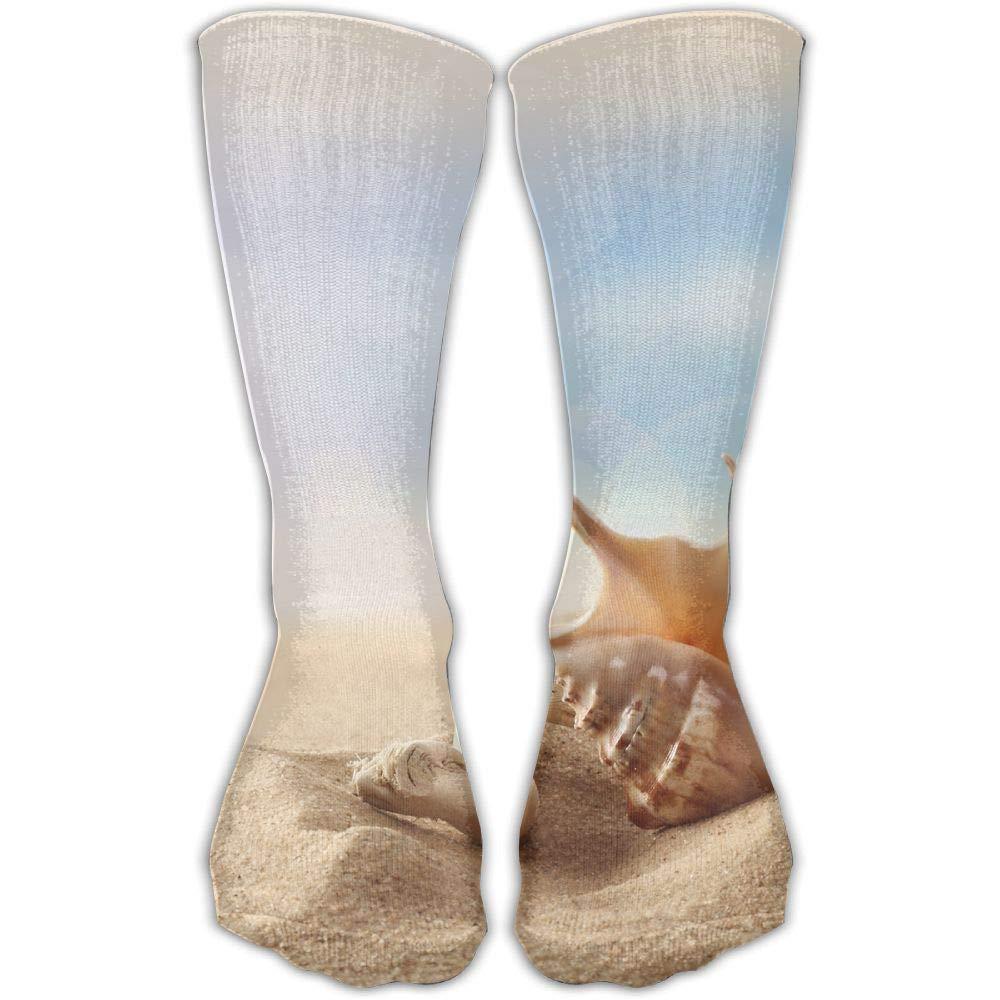 Protect Wrist For Cycling Moisture Control Elastic Sock Tube Socks Beach Seashell Athletic Soccer Socks