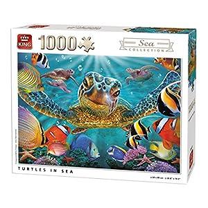 King 5617 Tartarughe In Mare Subacquea Puzzle Da Pezzi 68 X 49 Cm