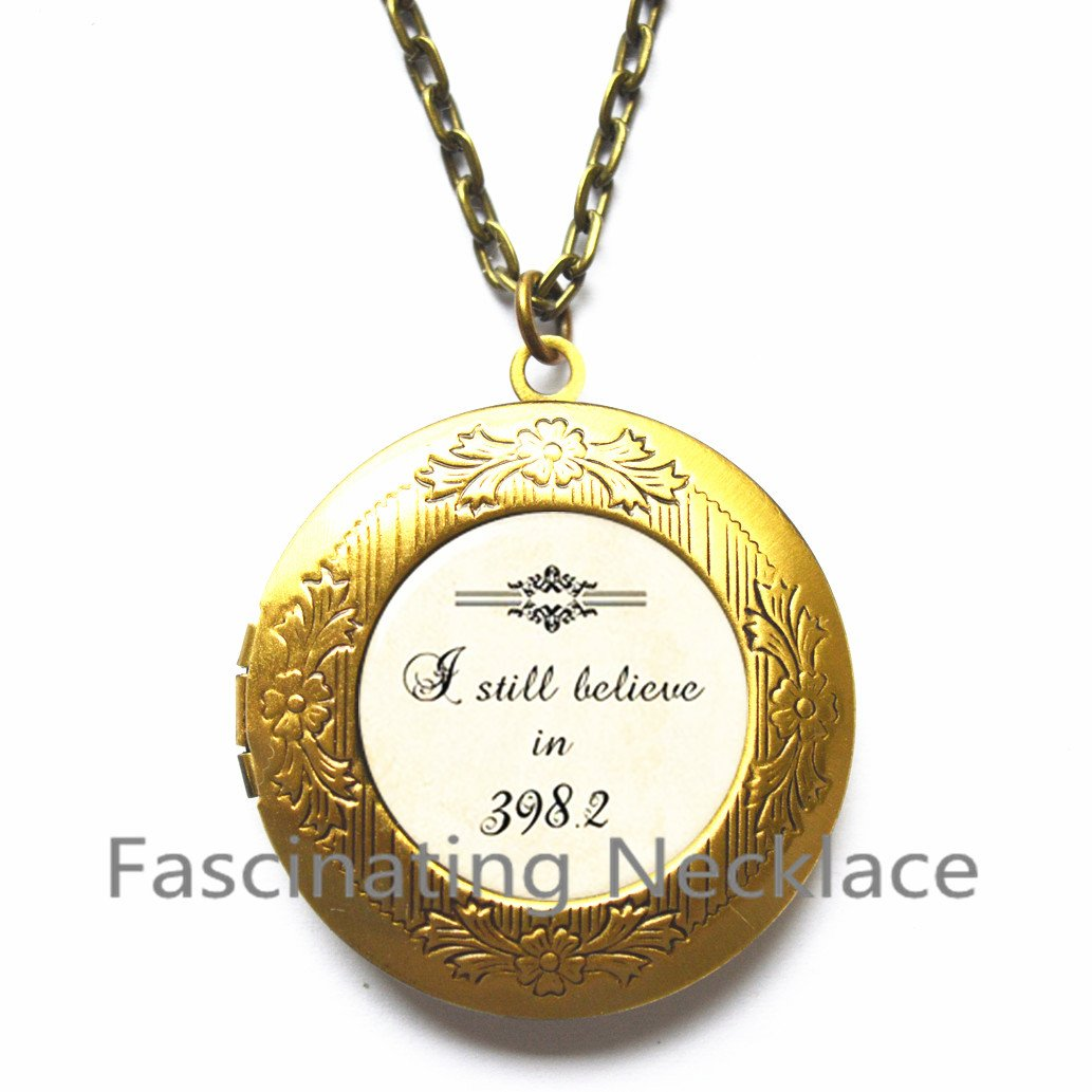 I still believe in 398.2 Locket Necklace 398.2 jewelry 3982 Locket Pendant fairy tale Locket Necklace fairy Locket Necklace i love fairies librarian gift for mother,AQ179