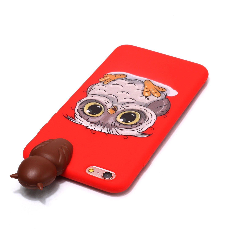 HUDDU Wei/ß Handyh/ülle Transparente Weihnachten Schutzh/ülle TPU Silikon Back Cover D/ünn Protective Case 3D Karikatur Christmas Apple iPhone 6 Plus//6S Plus iPhone 6S Plus Xmas H/ülle Schwarze Katze