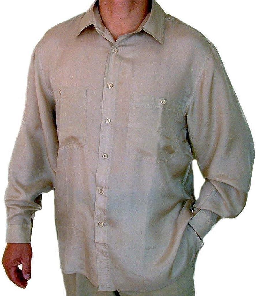 Sorpresa Hombre Camisa De Seda 100% # 207 beige: Amazon.es: Ropa y accesorios