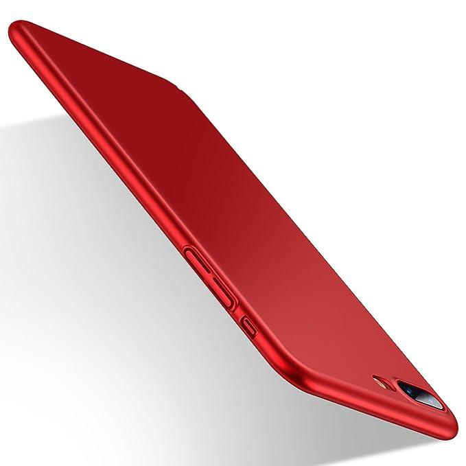 coque iphone 8 rouge mat