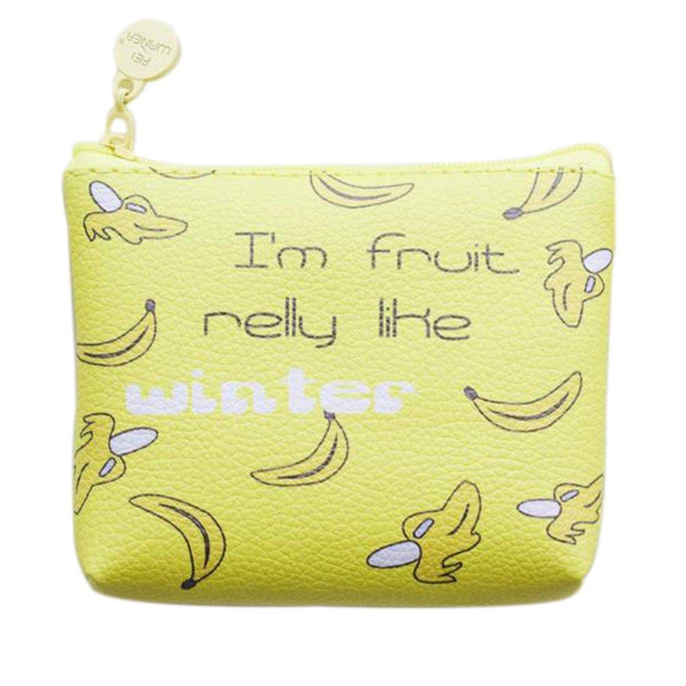 Cdet Coin Purse PU Handbag Wallet Cosmetic Bag Birthday Gift for Friend (Green)