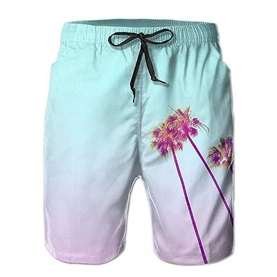 Bdna High Tree Men's Beach Shorts Swim Trunks Casual Sport Print Short Pants Jogging Pants